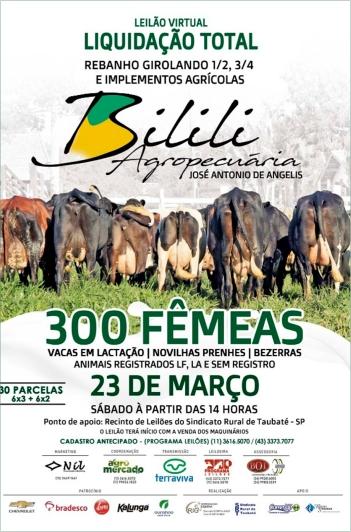 Liquidação Total Girolando Bilili Agropec.