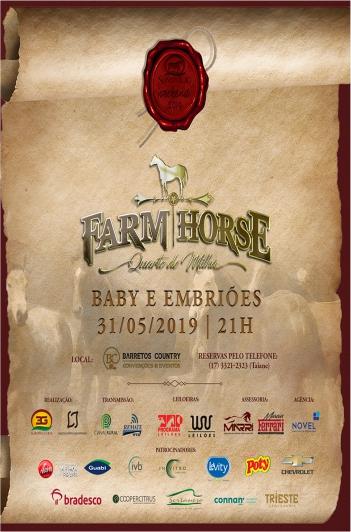 Leilão Farm Horse - Baby & Embriões