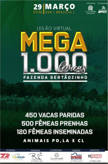 Virtual Mega 1000 Fêmeas - Fazenda Sertãozinho