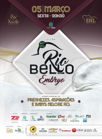 Leilão Rio Bello - Embryo