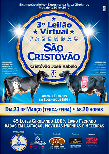 3° Leilão Virtual Fazendas São Cristóvão