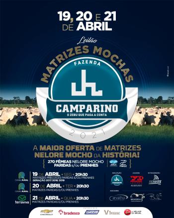 Leilão Matrizes Mochas Fazenda Camparino 2021 - 1° Etapa