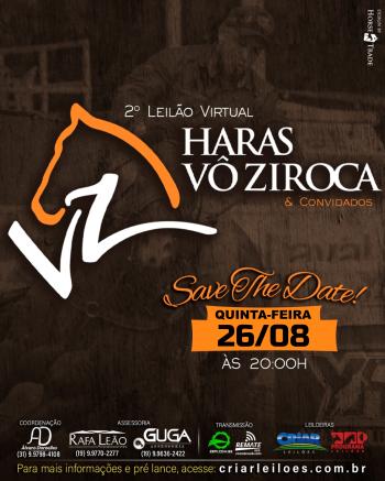 2° Leilão Virtual Haras Vô Ziroca & Convidados