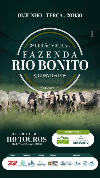3° Leilão Virtual Fazenda Rio Bonito & Convidados