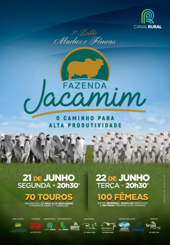 3° Leilão Machos e Fêmeas Fazenda Jacamim - Touros