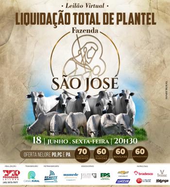 Leilão Virtual Liquidação Total de Plantel Fazenda São José