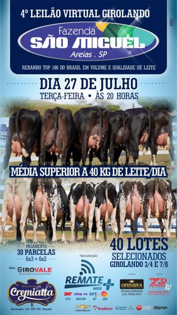 4° Leilão Virtual Girolando Fazenda São Miguel