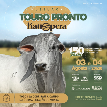 Leilão Touro Pronto Katispera - 2° Etapa
