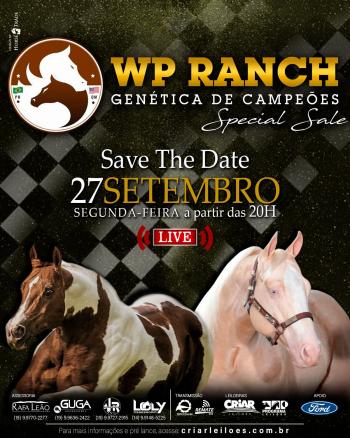 Leilão WP Ranch Genética de Campeões