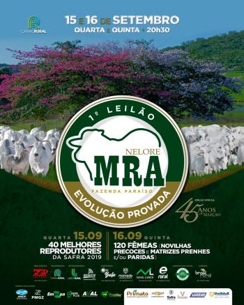 1° Leilão Nelore MRA Fazenda Paraíso - Reprodutores/Matrizes