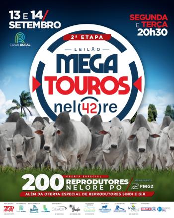Leilão Mega Touros Nelore 42 - 14/09