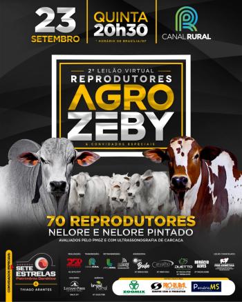 2° Leilão Virtual Reprodutores AgroZeby & Convidados Especiais