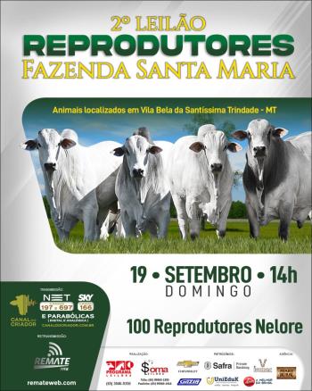 2° Leilão Reprodutores Fazenda Santa Maria